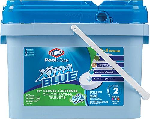 Clorox Pool&Spa XtraBlue 3' Long Lasting Chlorinating Tablets 25 lb