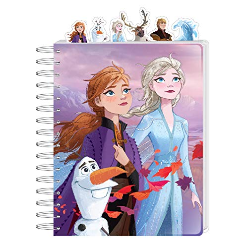 Disney Frozen 2 Journal for Kids Elsa and Anna Diary Spiral Ruled with Tabs