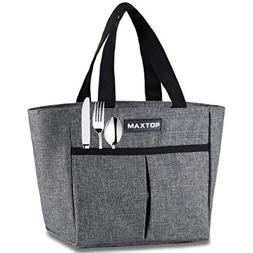 MAXTOP Lunch Bags for WomenInsulated Thermal Lunch Tote BagLunch Box with Front Pocket for Office Work Picnic Shopping