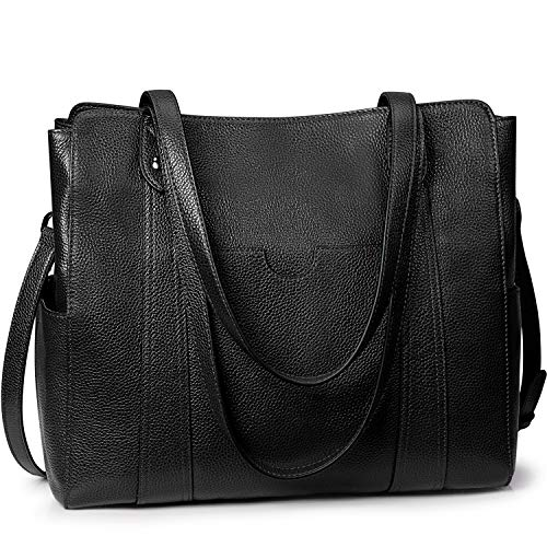 S-ZONE Women 3 Ways Fashion Soft Genuine Leather Large Work Tote Shoulder Bag Purse Ladies Handbag