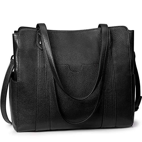 S-Zone, borsa a tracolla da donna, in vera pelle, taglia M, nero (Cruz V2 Fresh Foam), Medium