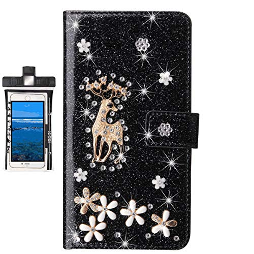Flip Case for iPhone 11 Leather Extra-Thin Light Phone case, Stylish Cell Mobile Cover,with Free Waterproof Bag