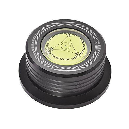 Mugast LP Platenspeler Disc Record Stabilizer Clamp met waterpas voor het verwijderen van trillingen, stabilisatie van het toerental, zwart