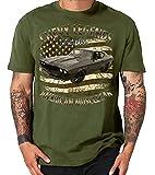 Styletex23 Chevy American Vintage Musclecars Oldtimer Hot Rod USA - Camiseta, 60s Chevelle Oliva, XL
