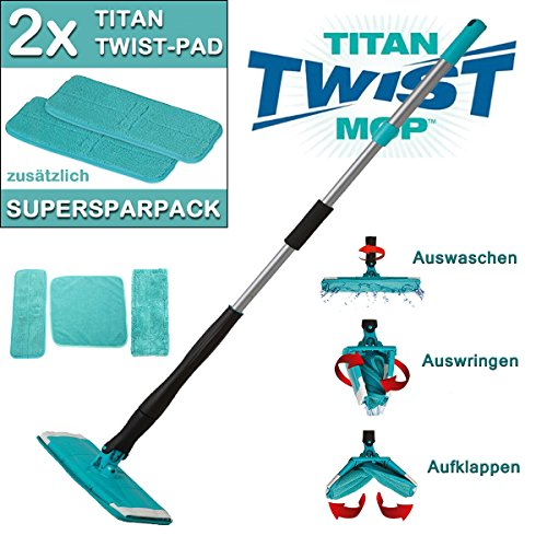 SPARSET - TITAN TWIST Mop Wischmop & 2x Wischpad Bodenwischer Wischmopp Wischer TV Werbung
