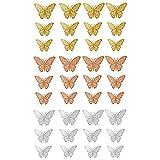 gotyou 36 Piezas 3D Pegatina de Pared de Mariposa calcomanías, Pegatina de pared 3D mural de Arte Artesania bricolaje pegatinas decoracion de mariposa Calcomanías para el Hogar Murales