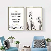 モダンなミニマリストスタイルのリビングルームの家の装飾ポスター黒と白のギターインスピレーションキャンバス壁アート写真-40x60cmx2フレームなし
