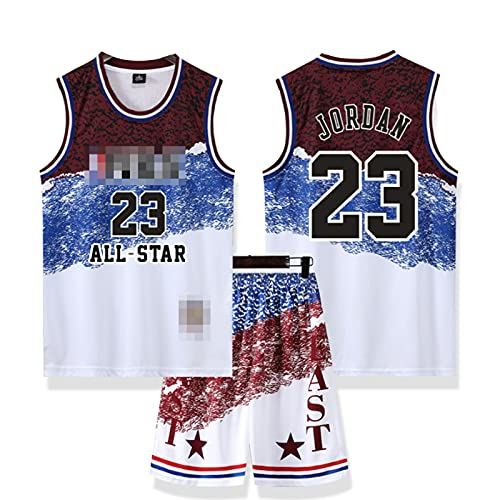 SSUU Bǔlls Camisetas de Baloncesto Camisetas para Hombres jǒrdǎn 23# Entrenamiento Ropa Deportiva Jersey Juventud Uniforme Profesional Chaleco, Todo Estrella Retro, faná White-XXXXXL