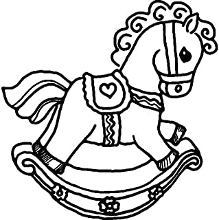 Azeeda A8 'Rocking Horse' Unmounted Rubber Stamp (RS00025745)