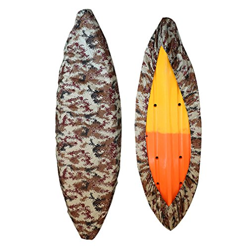 Mexidi 8.5-19.7ft Professional Waterproof Camouflage Kayak Storage Cover Boat Cover Canoe Storage UV Dust Storage Cover Protection Sunblock Shield (J, 2.6-3m/8.5-9.8ft)