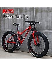 N A Mountain Bikes 24/26 Pouces Fat Tire VTT, 21 Vitesse de vélos, 4.0Fat pneus Mountain Trail Bike Suspension Avant VTT