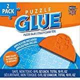 MasterPieces Accessories, Jigsaw Puzzle Glue Bottle & Wide Plastic Spreader, 5 Ounces each, 2 Pack