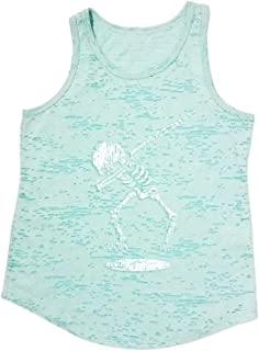 Tough Cookie's Kid's Burnout Tank Top with Dancing Skull Print