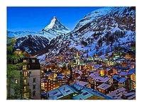 大人のジグソーパズル 雪に覆われた山脈ジグソーパズル大人のパズルクリエイティブゲームジグソーズキッズクラシックなおもちゃギフト300/500/1000/1500ピース D-1115 (Size : 1500P)