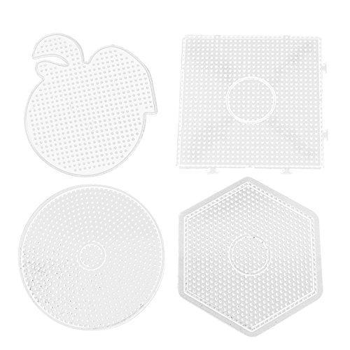 4 pcs Assorties Formes 5mm Grand Effacer Fusible Perles Tableaux Panneaux Pédagogiques Jouets Éducatifs pour Enfants Adultes DIY Artisanat Perles