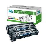InkJello - Cartucho de tóner Compatible para HP Laserjet Pro M1132 MFP M1212nf M1214nfh M1217nfw P1100 P1102 P1102w P1104 P1104w CE285A/CRG-725 (Negro, 2 Unidades)