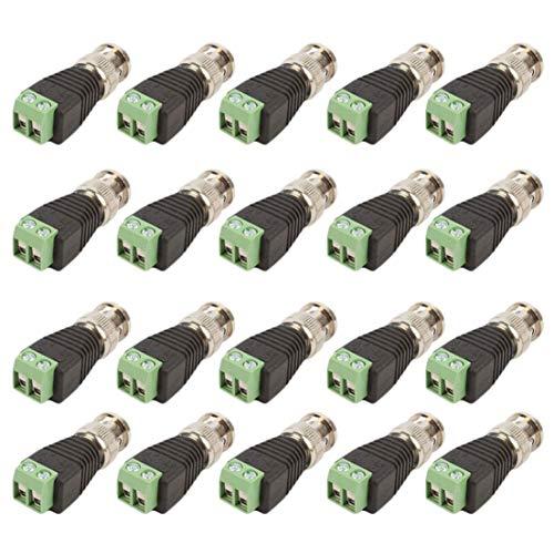 BiaBai 20Pcs / lot Mini Coax CAT5 a la cámara CCTV BNC UTP Video Balun Adaptador de conector BNC Enchufe para accesorios del sistema CCTV