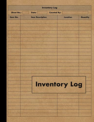Inventory Log: Large Inventory Log Book - 120 Pages for Business and Home - Perfect Bound