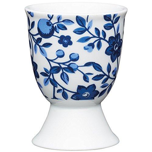 Kitchen Craft KCEGGTRAD Coquetier Traditional en Porcelaine, Bleu, 9 x 12 x 16 cm