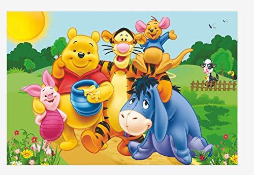 KELDOG Winnie The Pooh Puzzles Holz Puzzle 1000 Stück, für Wohnkultur Bild - Cartoon Anime