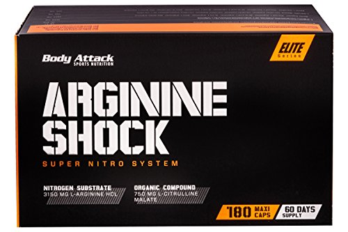 Body Attack Arginine Shock 1er Pack (1 x 180 Kapseln)