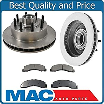 Front Brake Calipers And Rotors Ceramic Brake Pads For Excursion F250 F350 RWD