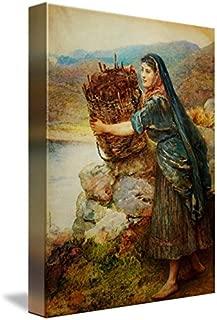 Wall Art Print Entitled Arthur Hopkins - A Connemara Girl by Celestial Images   23 x 32