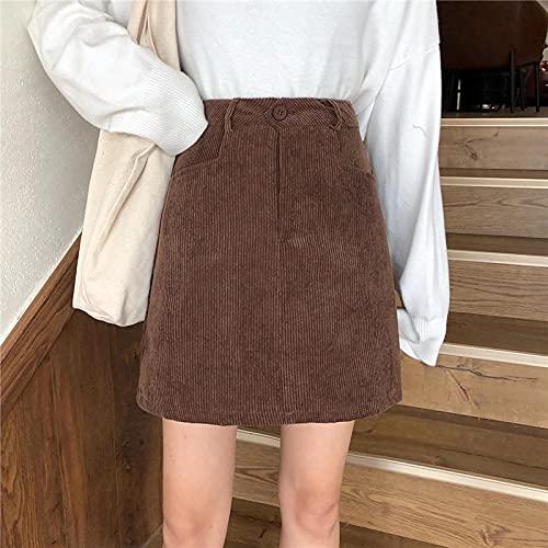 Falda Mujer Falda De Bolsillo Sólida para Mujer Casual Harajuku A-Line Falda Informal para Mujer Moda De...