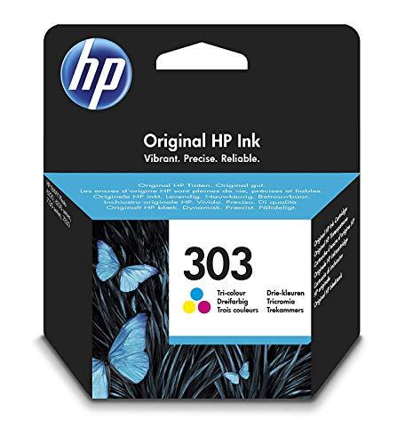 HP 303 T6N01AE cartouche d'encre Authentique, imprimantes HP Tango et HP ENVY Photo, trois couleurs (Cyan, Magenta, Jaune)