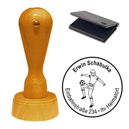 Stempel met kussen « voetbal » adresstempel firmastempel Sportvereniging voetballer Soccer