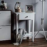 Home Discount Windsor 1 cajón Consola Mesa con Estante, Madera Blanca Pasillo Sala de Estar Dormitorio tocador Muebles de Escritorio