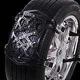 WEI-LUONG Cadena de neumáticos de arena Vehículos universal espesado Ensanchamiento antideslizante Cadena Rueda nieve del...