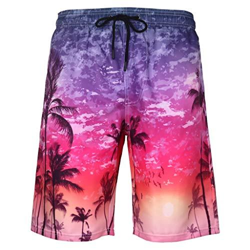 FRAUIT Shorts heren zomer zwembroek training sport Hawaii 3D-print grafisch strand korte broek fitness broek en sweatshorts met elastiek casual feestelijk party shorts S-6XL kleding