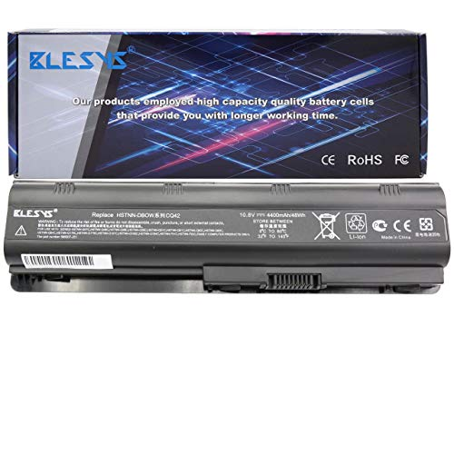 BLESYS Batteria 6cell 593553-001 593554-001 593562-001 593550-001 MU06 MU09 Compatibile con Laptop Batteria in forma HP Compaq Presario CQ32 CQ42 CQ43 CQ56 CQ57 CQ58 CQ62 CQ72 CQ630 CQ430 Batteria