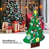 Wosume Ornamenti Natalizi, Tessuto in Feltro di qualità Albero di Natale in Feltro, abilità motorie Fini Albero di Natale Fai-da-Te Coordinazione Occhio-Mano 27 Pezzi Ornamenti per Soggiorno di #4