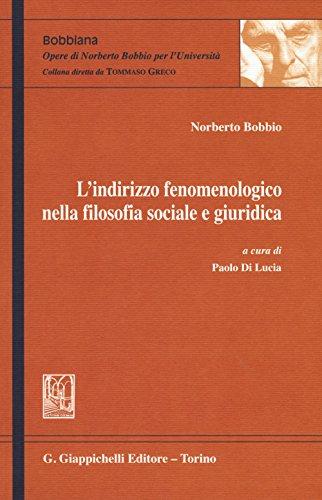 L'indirizzo fenomenologico nella filosofia sociale e giuridica