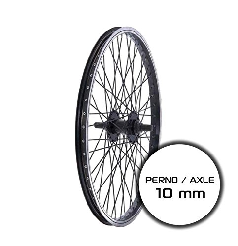 RIDEWILL BIKE Ruota Posteriore BMX 20'' Perno 10mm Nero (Ruote BMX) / Rear Wheel BMX 20'' axle 10mm Black (BMX Wheel)