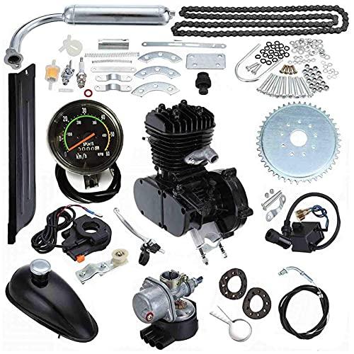 Seeutek 80cc Bicycle Engine Kit 26' 28' Bike Bicycle Motorized 2 Stroke Cycle Petrol Gas Motor Engine Kit Upgrade with Speedometer