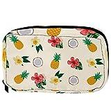 Bolsas de cosméticos de color amarillo piña roja cremosa flor práctica bolsa...