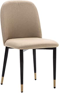 GWW Chair Dining Chairs, Makeup Chair, Leisure Side Chairs, Ergonomically Backrest with Iron Legs, for Kitchen,Cafe, Dressing Room, Office, Vanity