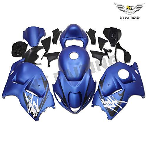 NT FAIRING Fairing Complete Matte Blue Fit for Suzuki 1997-2007 GSXR 1300 Hayabusa Gen1 Injection Mold ABS Plastics Aftermarket Bodywork Bodyframe Kit Set 1998 1999 2000 2001 2002 2003 2004 2005 2006