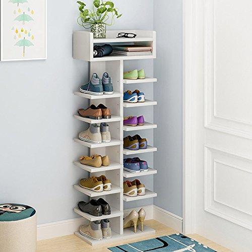 LJHA Chaussure Rack Simple Ménage Économique Assemblée Chaussure Armoire Multi-couche Imitation Bois Dortoir Porte Petit Chaussure Porte-Chaussures Meubles à chaussures (Couleur : A-1)