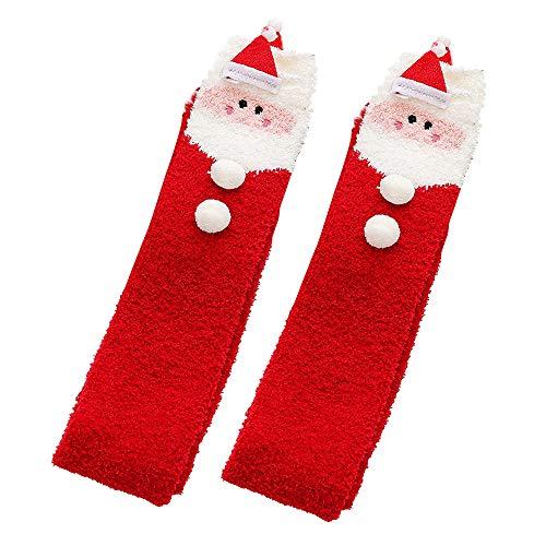 Preisvergleich Produktbild 1 Paar Weihnachten Kniestrümpfe Hohe Overknees Stocking Warm Schlaf-socken-weihnachtsstrümpfe Weihnachts Clous Schneemann Socken