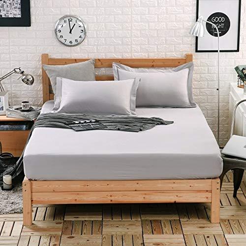 Hllhpc Katoen massief bed matras dekking vier hoeken met elastische bandlakens