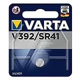 Varta V392 / SR41 - Pack de 1 pila (óxido de plata, 1.55 V, 40 mAh, formato blíster)