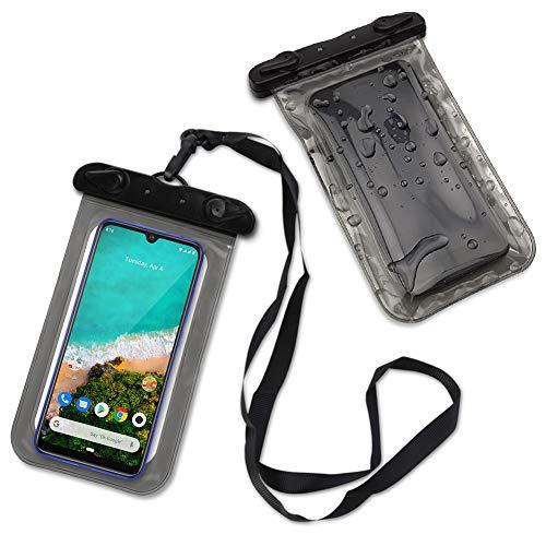 Handy Hülle Wasserdicht kompatibel mit Xiaomi Mi A3 Schutzhülle Wasser Tasche Schutz Hülle Wassertasche Strand Cover, Farbe:Schwarz
