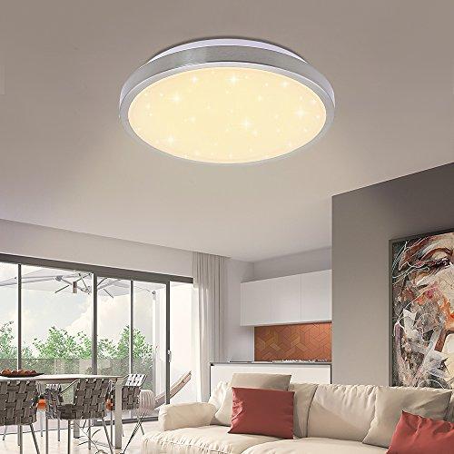 12W Deckenleuchte LED Deckenbeleuchtung Panel für Wohnzimmer Küche Korridor Rund Lampen decke Küchenleuchte (16W Warmweiß Starlight)