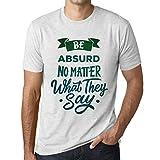 Photo de Homme T Shirt Graphique Imprimé Vintage Tee Be Yourself Absurd Blanc Chiné