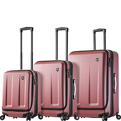Best Deals! Mia Toro Italy Esotico Hardside Spinner Luggage 3 Piece Set, Red