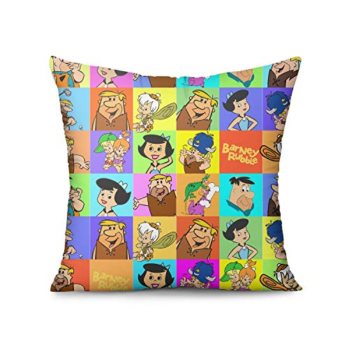 LAIDIAN Throw Pillow Covers Barney Rubble Diminutive Blond-Haired Square Car Decorative Cushion Case 1818